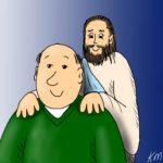 Chp 3:4 Jesus hand on shoulders